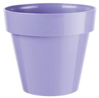 "Estuche redondo ""Ibiza"" - 12 cm - azul lavanda claro -"