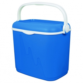 Portable refrigerator, mini cooler Camping - 32 litres - blue-white