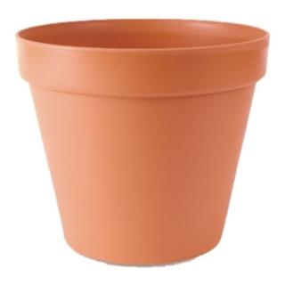 """Glinka"" simple plant pot ø 13 cm - terracotta-coloured"