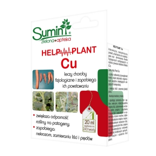 Help Plant Cu - enhances plant resistance to pathogens, leaf and shoot necrosis - Sumin® - 20 ml