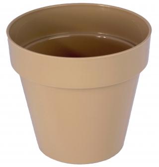 """Estuche redondo """"Ibiza"""" - 12 cm - cafe latte -"""