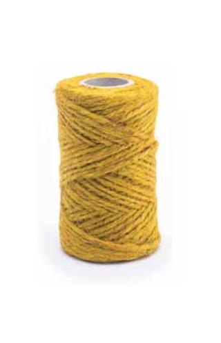 Sárga juta zsineg - 50 g / 25 m -