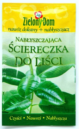 Leaf wipe - cleans, lustres and fertilizes!